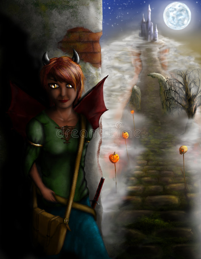Download Halloween invited stock illustration. Illustration of dark - 6830724