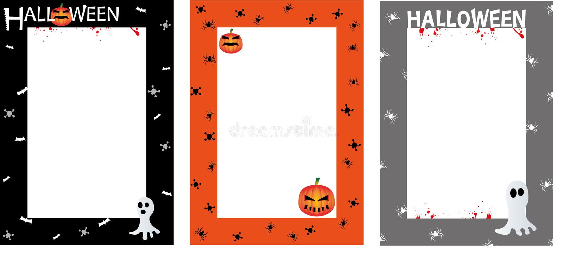 Halloween Invites Poster Border Royalty Free Stock Photos
