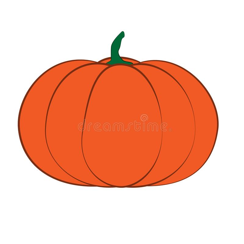 Halloween isolated pumpkin in vector. Autumn dall thanksgiving food for vegetarian. Natural seasonal plant from farm or royalty free illustration