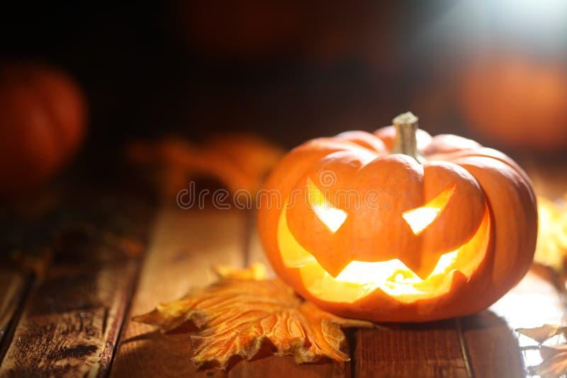 Halloween jack o' lantern background stock image