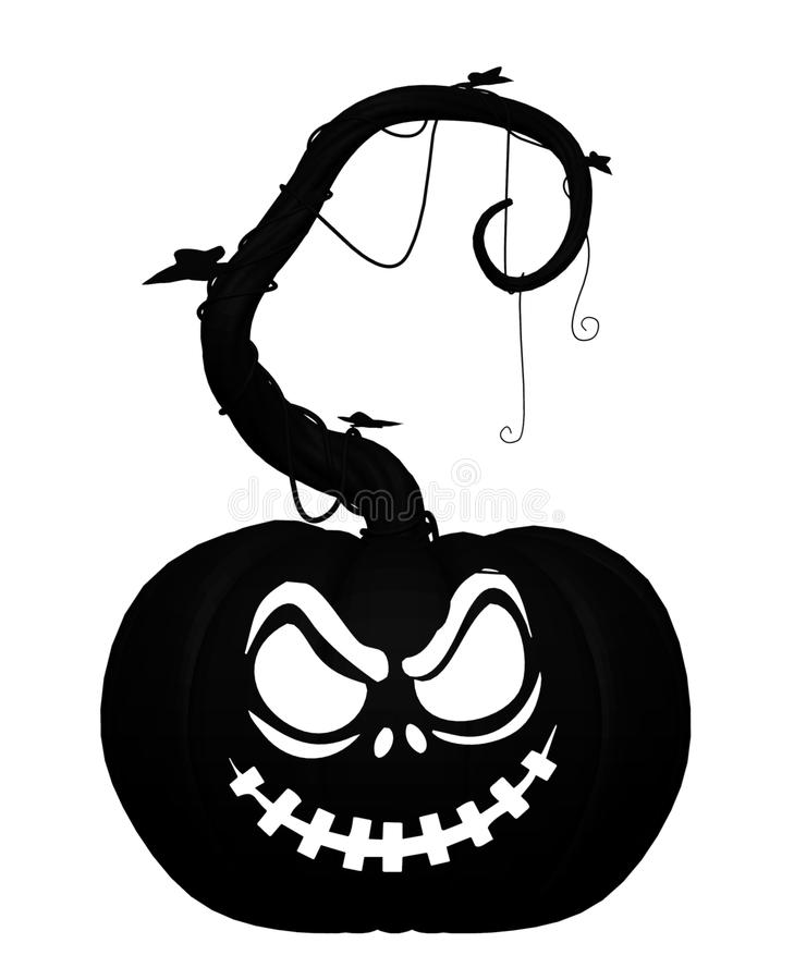 Halloween Jack O'Lantern Pumpkin silhouette. vector illustration