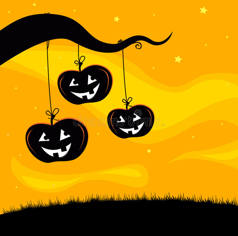 Download Halloween Jack O'Lantern Tree Background Stock Vector - Image: 16218674