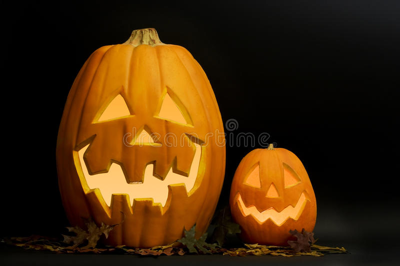 Halloween Jack-O-Lanterns royalty free stock photo
