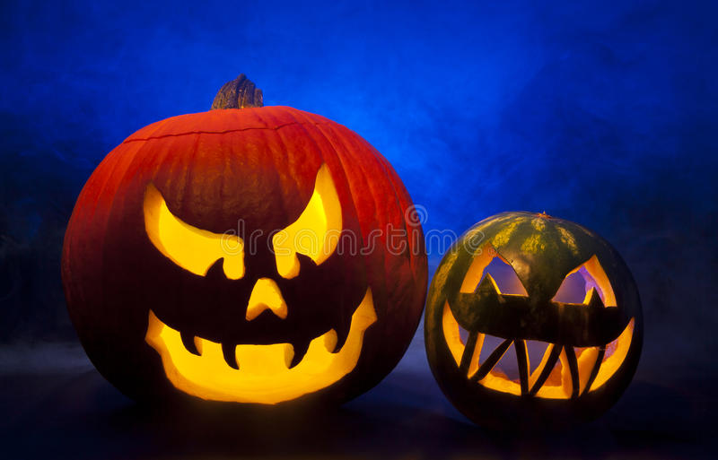 Download Halloween Jack-o-Lanterns stock photo. Image of gourd - 27329614