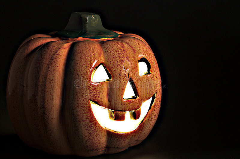 Halloween Jack-O-Laterne stockbilder