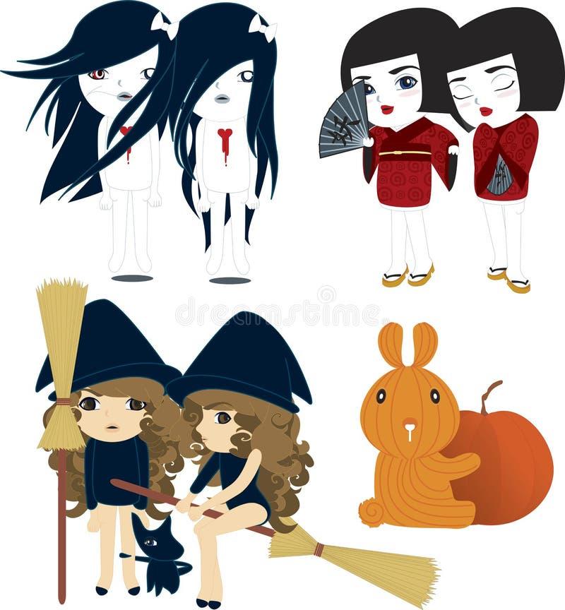Halloween japonês ilustração royalty free