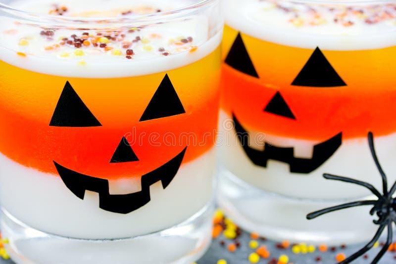 Halloween-jellodessert voedsel van het achtergrondsuikergoedgraan royalty-vrije stock foto's