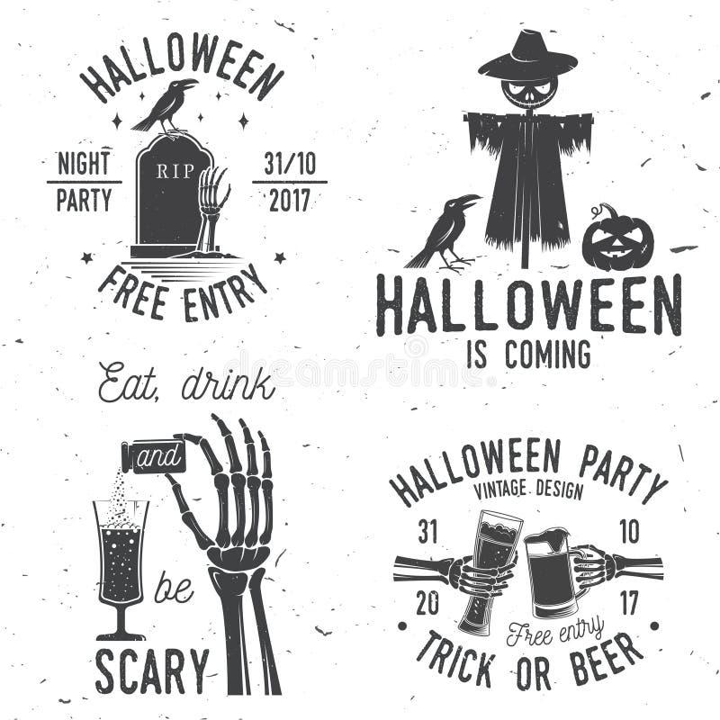 Halloween jest nadchodzącym pojęciem również zwrócić corel ilustracji wektora royalty ilustracja