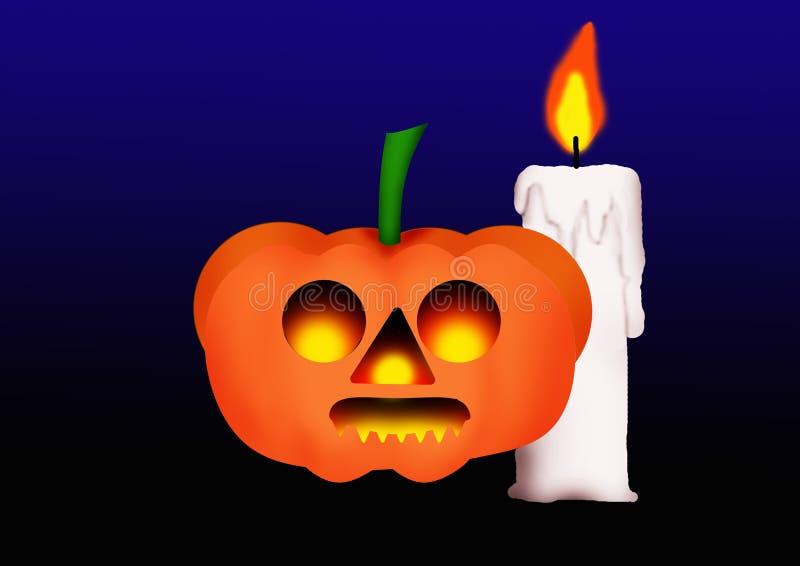 Halloween-Kürbis lizenzfreie abbildung