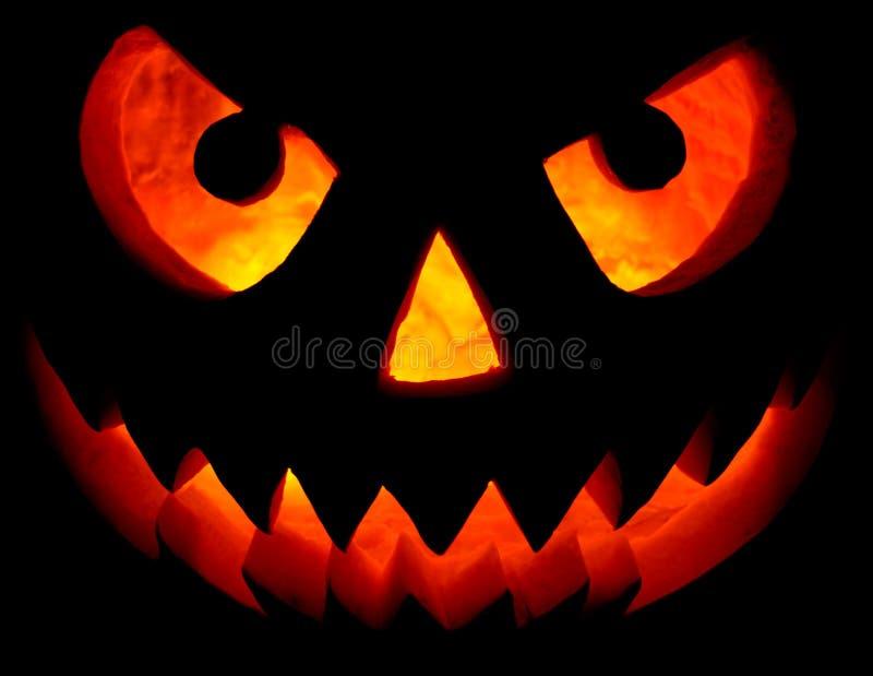 Halloween-Kürbis auf Schwarzem stockfotos