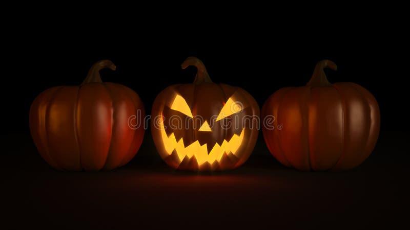 Halloween-Kürbis Halloween 3d vektor abbildung