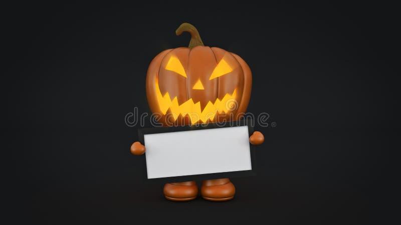 Halloween-Kürbis Halloween 3d lizenzfreie abbildung