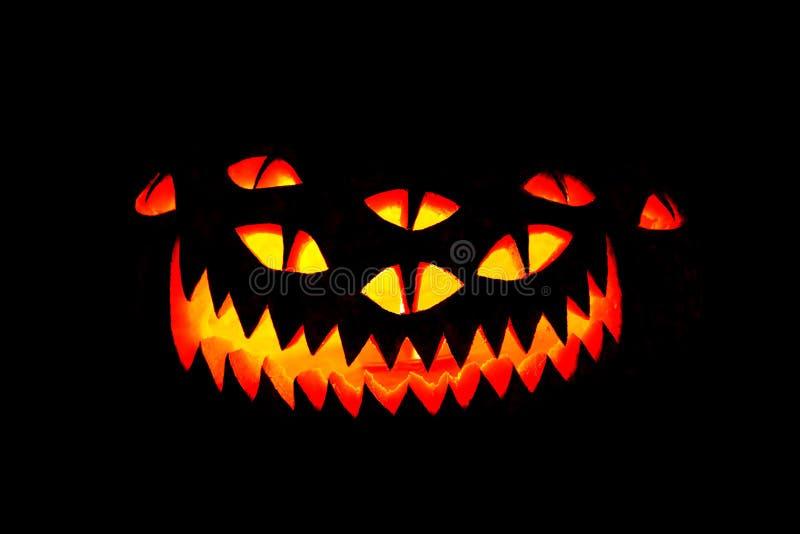 Halloween-Kürbis-Gesicht lizenzfreie stockfotografie