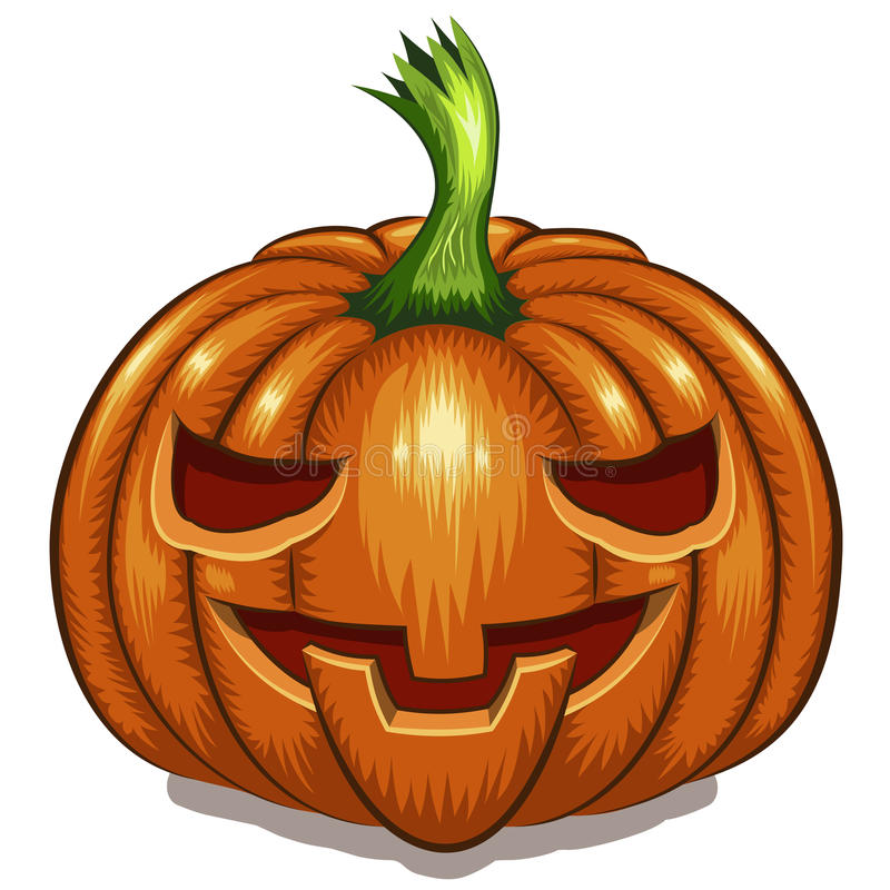Halloween-Kürbis-Gesicht lizenzfreie abbildung