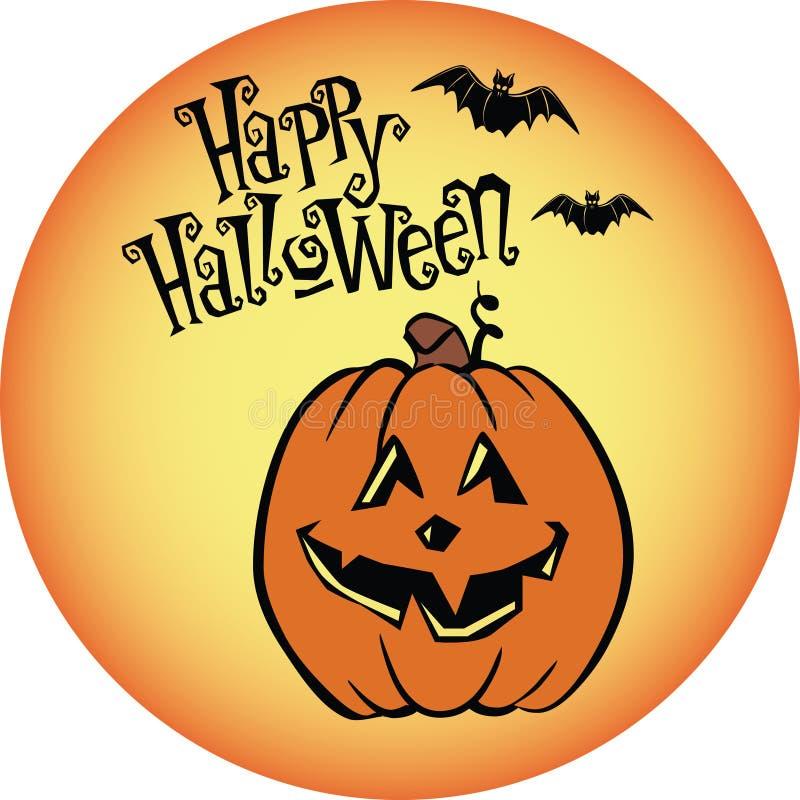 Halloween-Kürbis-Szene lizenzfreie stockfotos