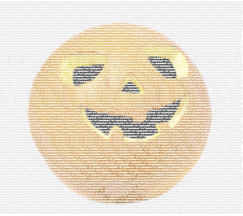 Halloween-Kürbisbild aus Buchstaben stockbilder