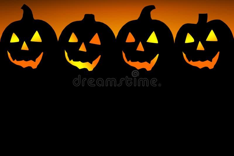 Halloween-Kürbise lizenzfreie abbildung