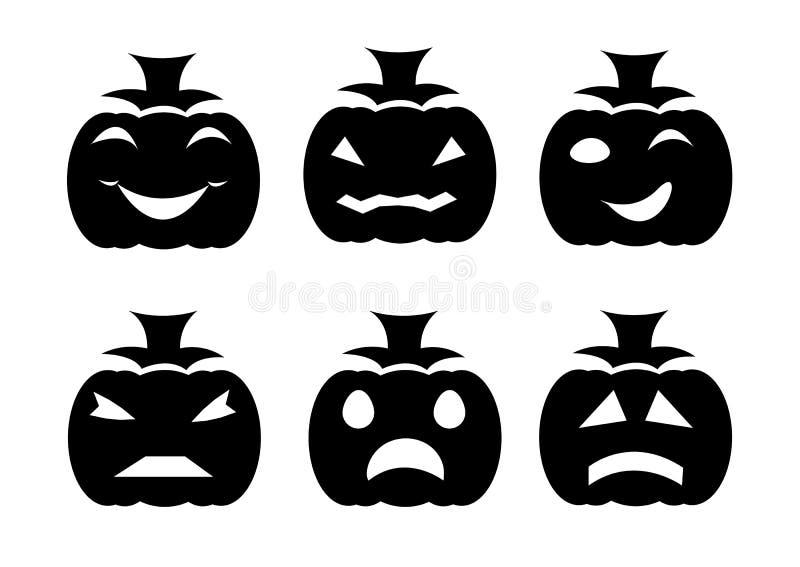 Halloween-Kürbise eingestellt vektor abbildung