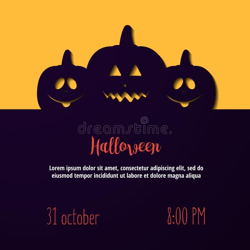 Halloween-Kürbise Vector Illustration für Poster, Fahnen, Einladungen vektor abbildung