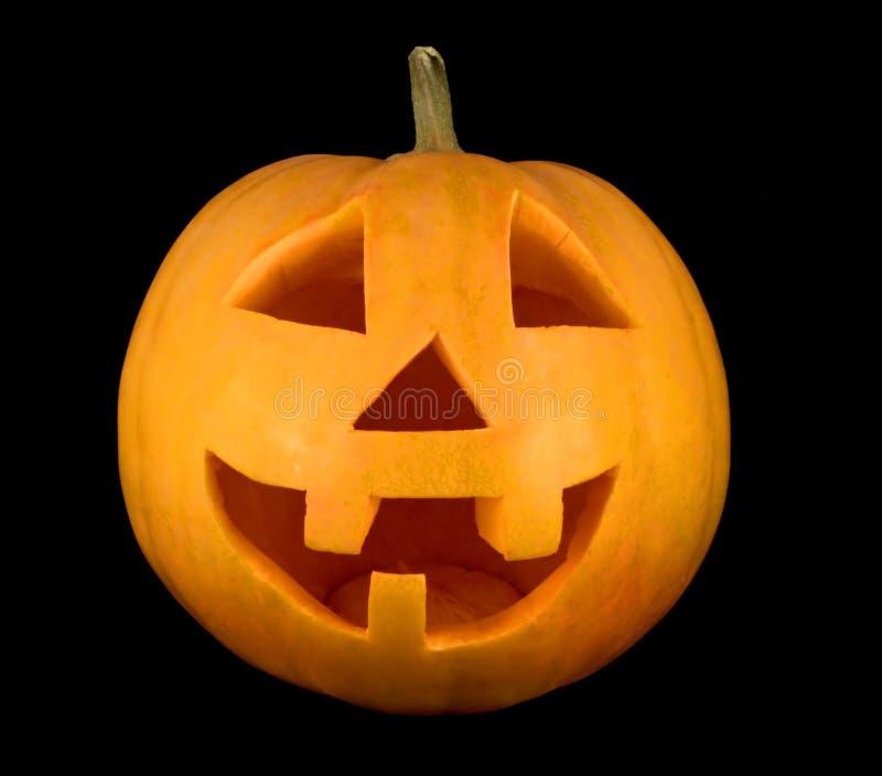 Halloween-Kürbisgesichtsnahaufnahme lizenzfreie stockbilder