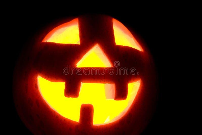 Halloween-Kürbisgesichtsnahaufnahme stockfotos