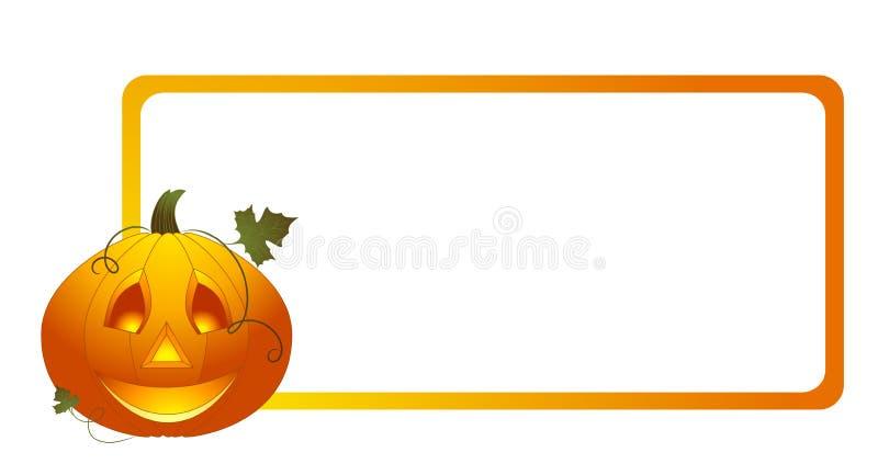 Halloween-Kürbishintergrund stock abbildung