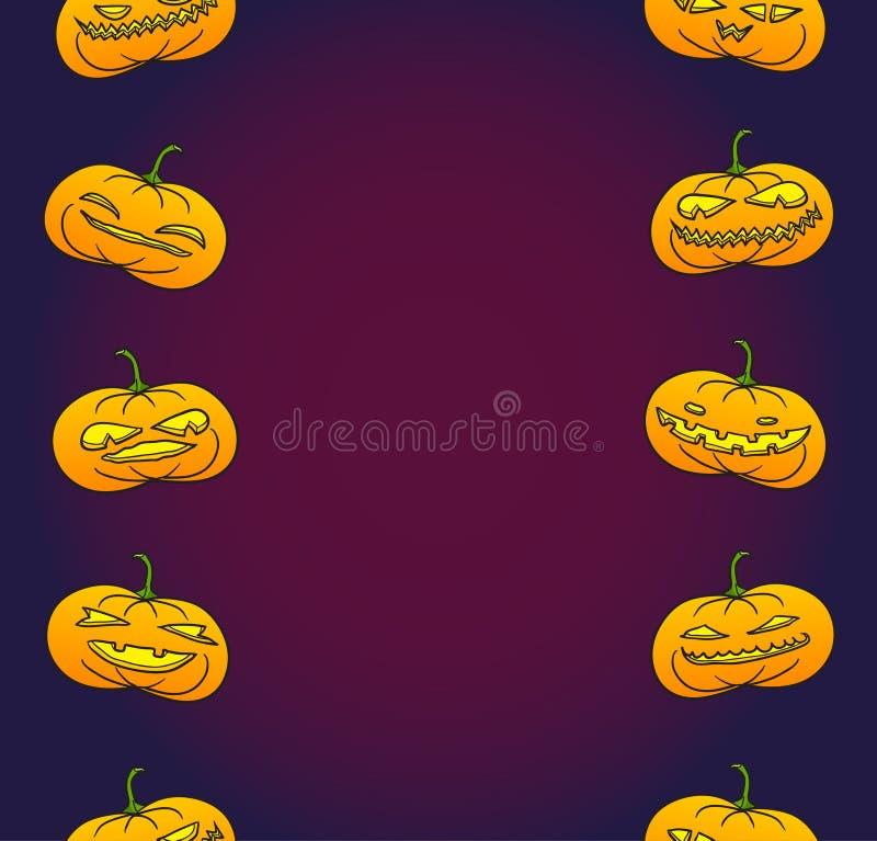 Halloween-Kürbiskarte stock abbildung