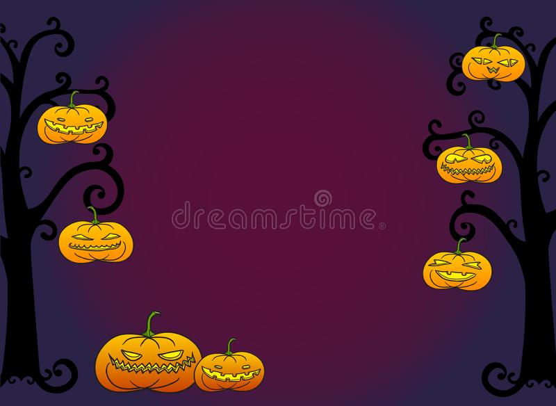Halloween-Kürbiskarte lizenzfreie abbildung