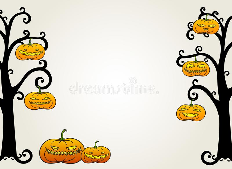 Halloween-Kürbiskarte vektor abbildung