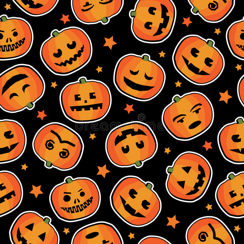 Halloween-Kürbismuster lizenzfreie abbildung