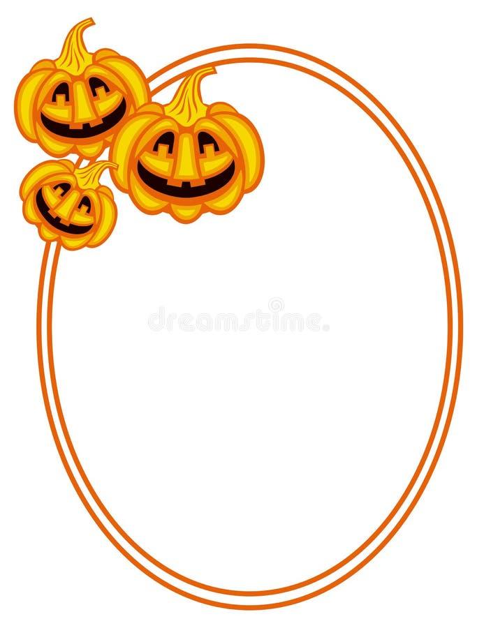 Halloween-Kürbisovalrahmen vektor abbildung
