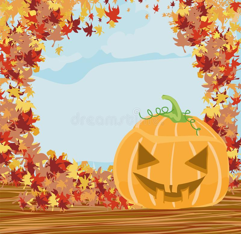 Halloween-Kürbisrahmen stock abbildung