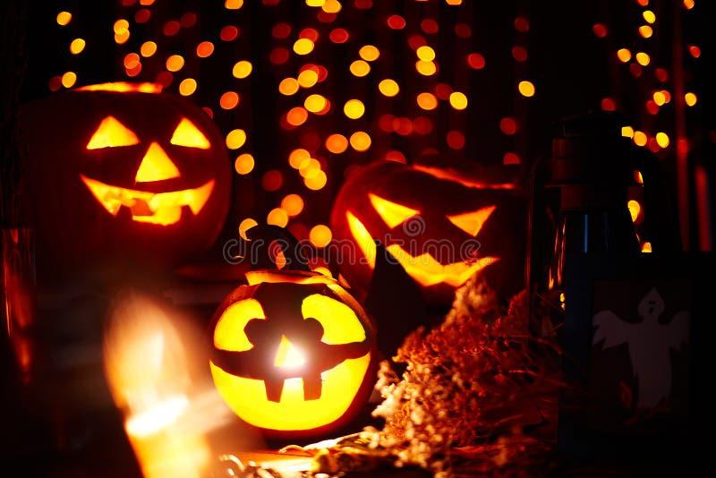 Halloween-Kürbisse lizenzfreie stockfotografie