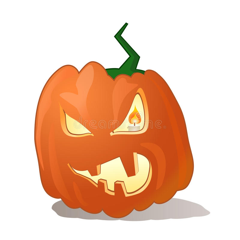 Halloween-Kürbisvektor lizenzfreie stockfotos