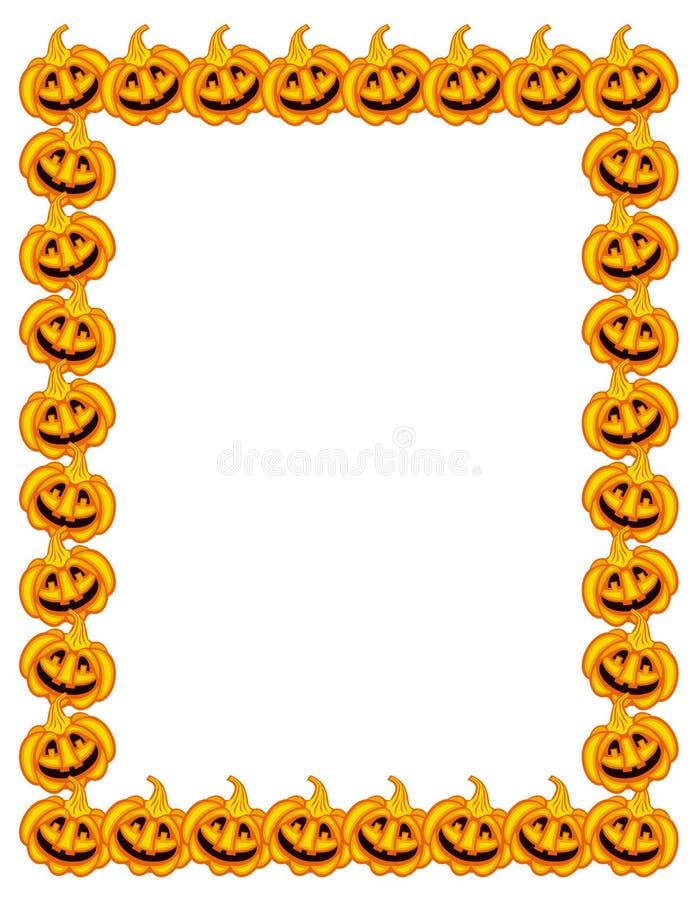 Halloween-Kürbisvertikalenrahmen stock abbildung