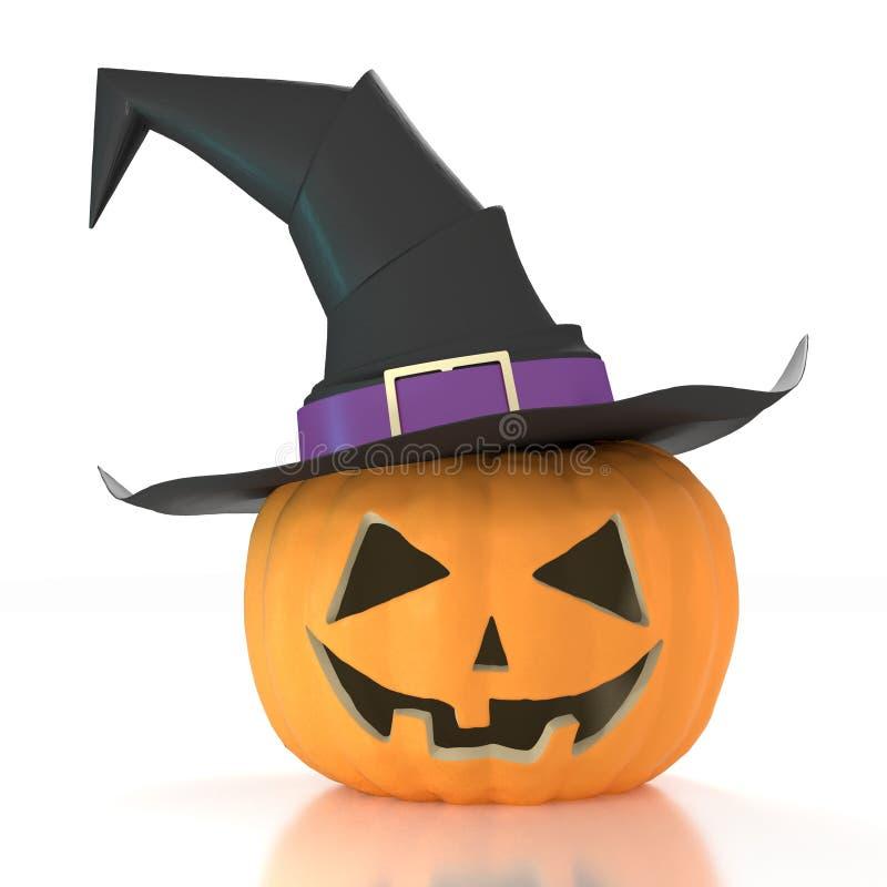 Halloween-K?rbis-tragender Hexen-Hut vektor abbildung