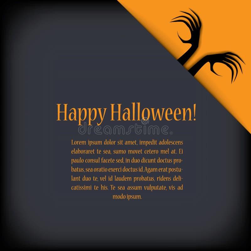Halloween-kaartontwerp met zombiehanden EPS10 royalty-vrije illustratie