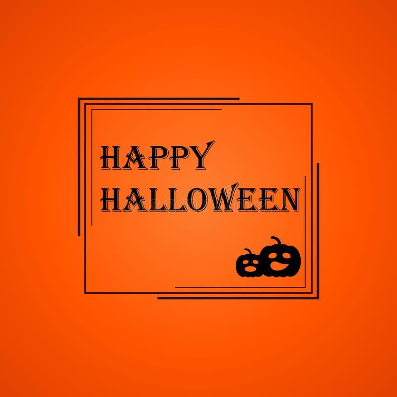 Halloween-kader op oranje achtergrond stock illustratie