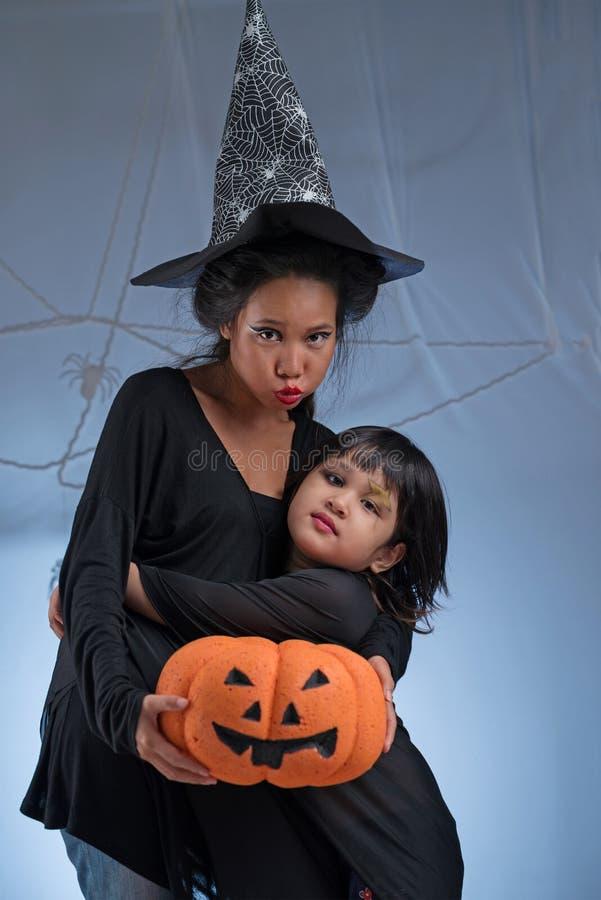Halloween-karakters royalty-vrije stock foto's