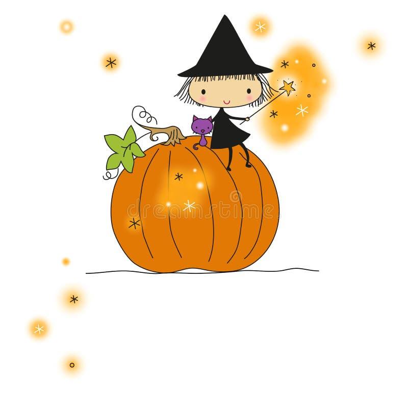 Halloween karta ilustracja wektor