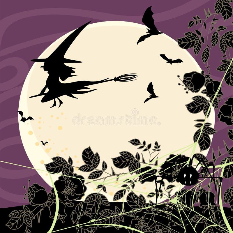 Download Halloween karta ilustracja wektor. Obraz złożonej z miot - 28081130