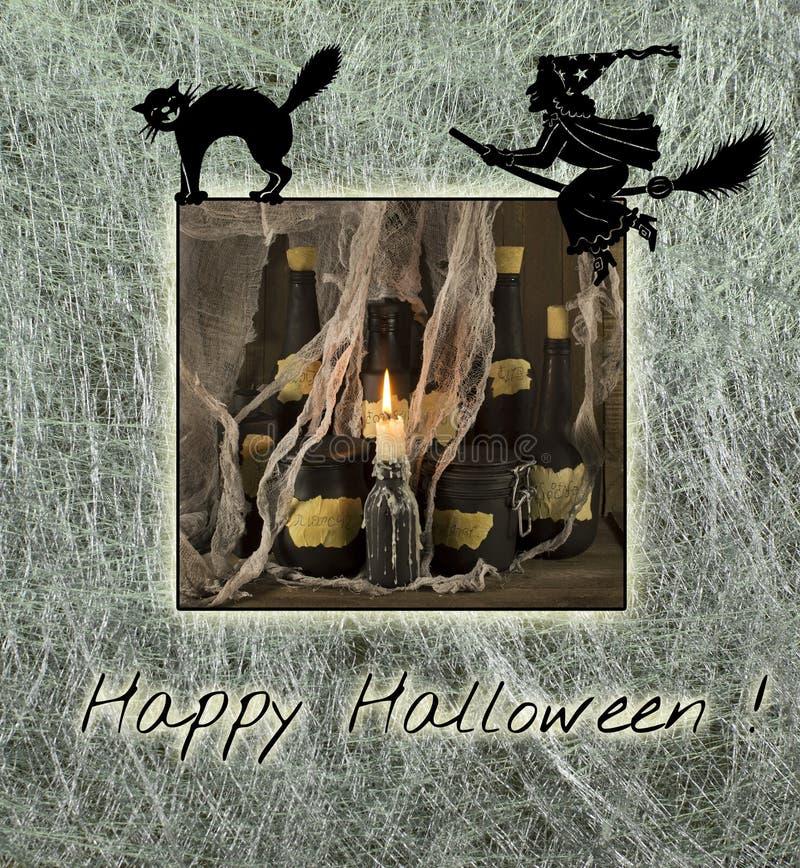 Halloween karta 3 royalty ilustracja