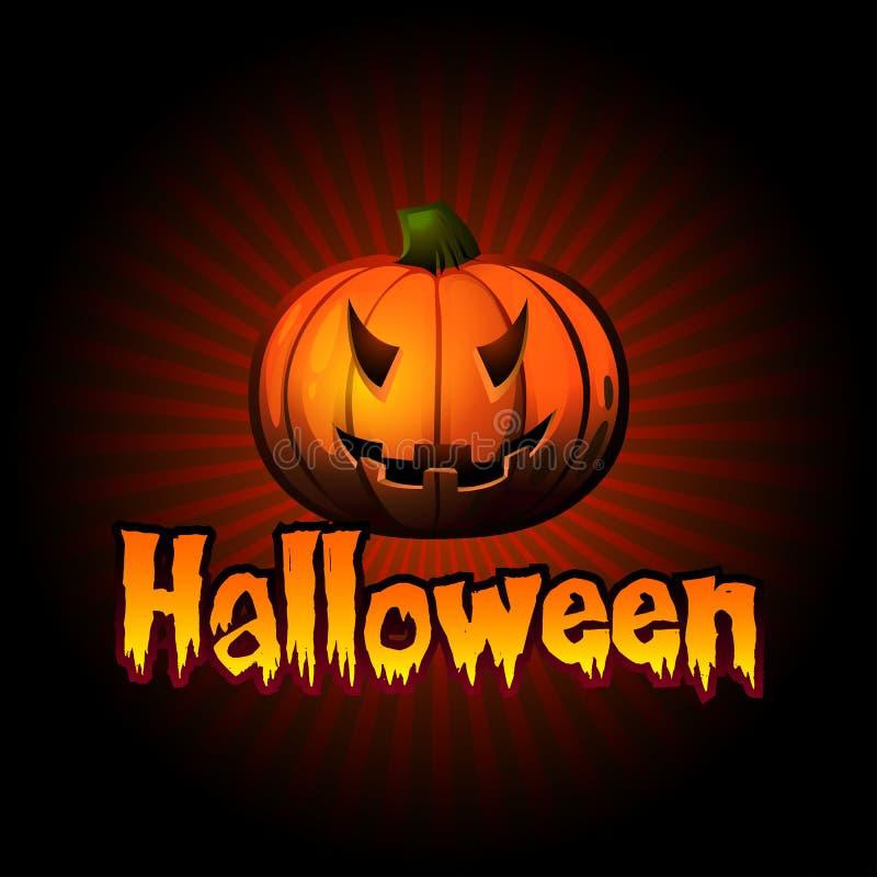 Download Halloween Karta Z Banią I Promieniami Ilustracji - Obraz: 34079801