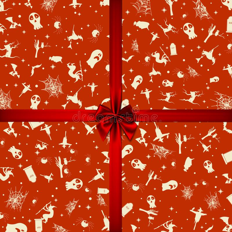 Halloween karta z kwadrat ramowymi i płaskimi wakacyjnymi ikonami r?wnie? zwr?ci? corel ilustracji wektora ()- Wektor kartoteka ilustracja wektor