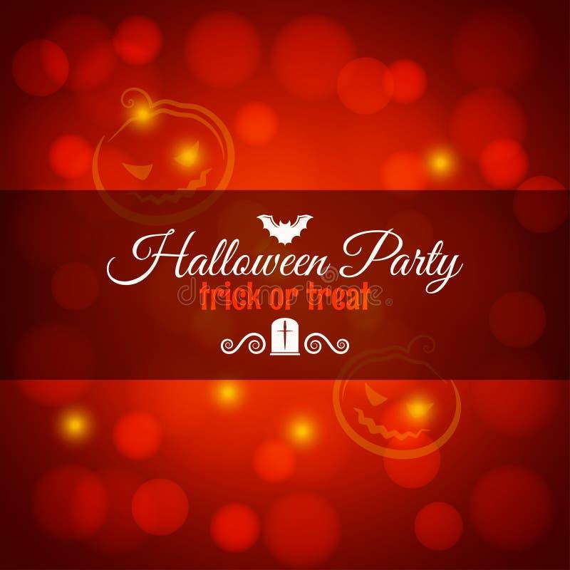 Halloween karta z nietoperza i bani tłem royalty ilustracja