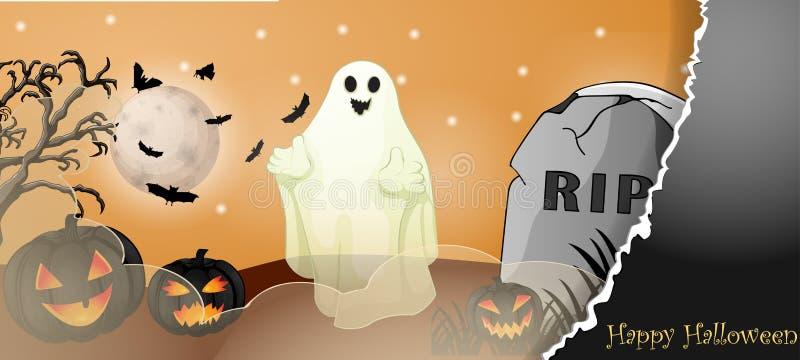 Halloween karta z strasznymi rzeczami zdjęcie royalty free