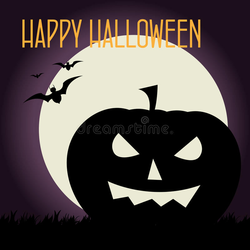 Halloween-Karte vektor abbildung