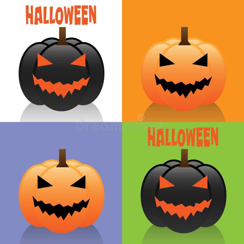 Halloween-Karten lizenzfreie abbildung