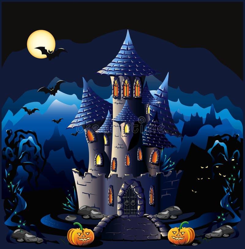 Halloween kasztel ilustracja wektor