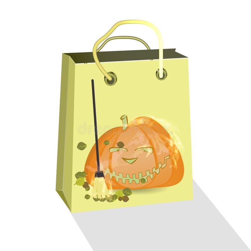 Halloween Kaufen Sie ein Paket mit Kürbis lizenzfreie abbildung